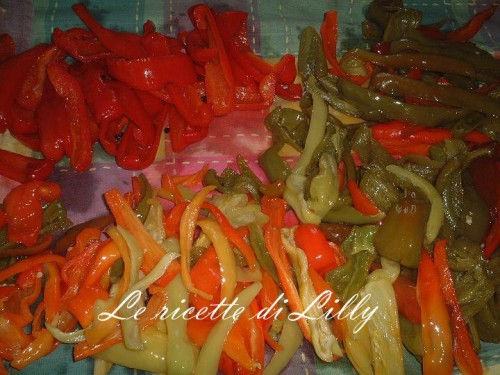 peperoni,rossi,gialli,verdi,agrodolce,aceto,olio,